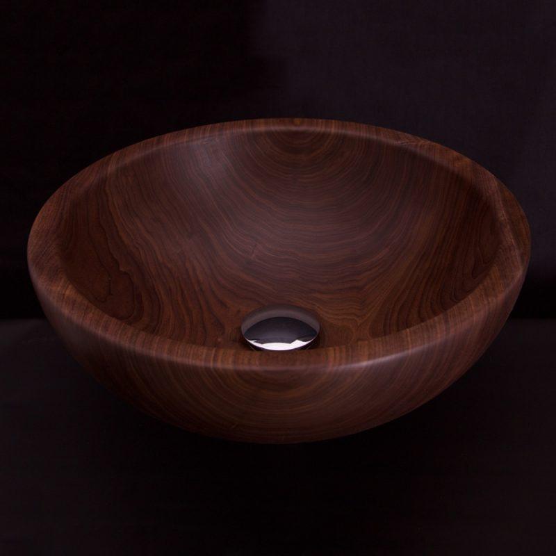 Vasque en bois de noyer