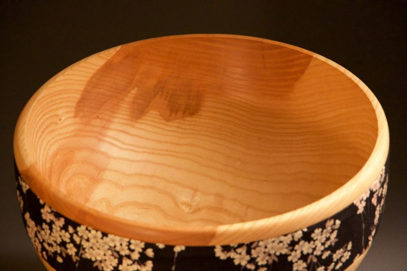 bol décoratif en bois