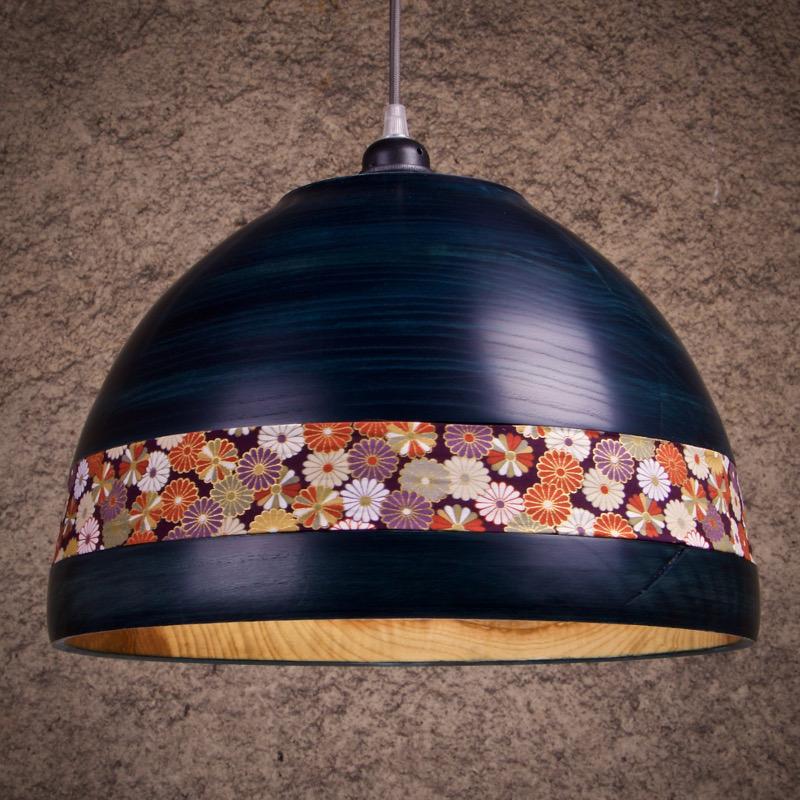 luminaire en bois suspension