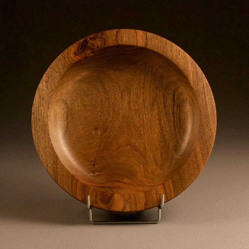 assiette creuse en bois massif