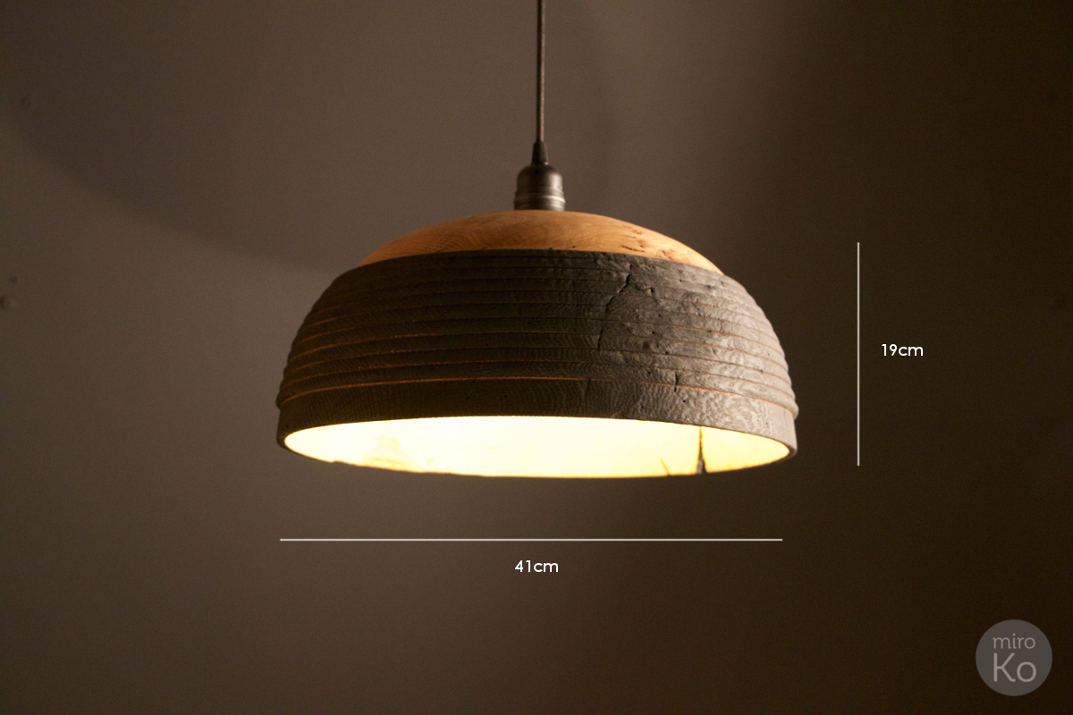 Suspension yakisugi Luminaire en bois brûlé | miroKo