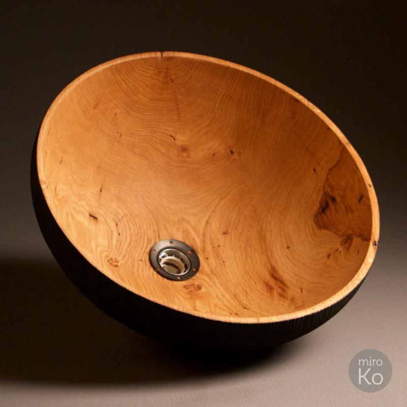 suspension en bois brûlé