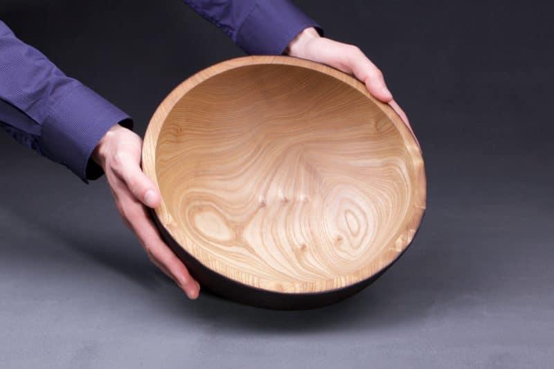 bol en bois brûlé