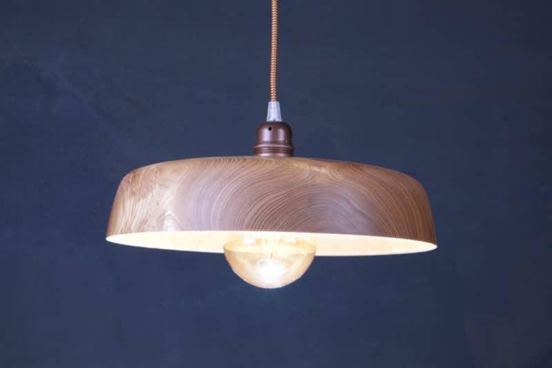luminaire en bois massif