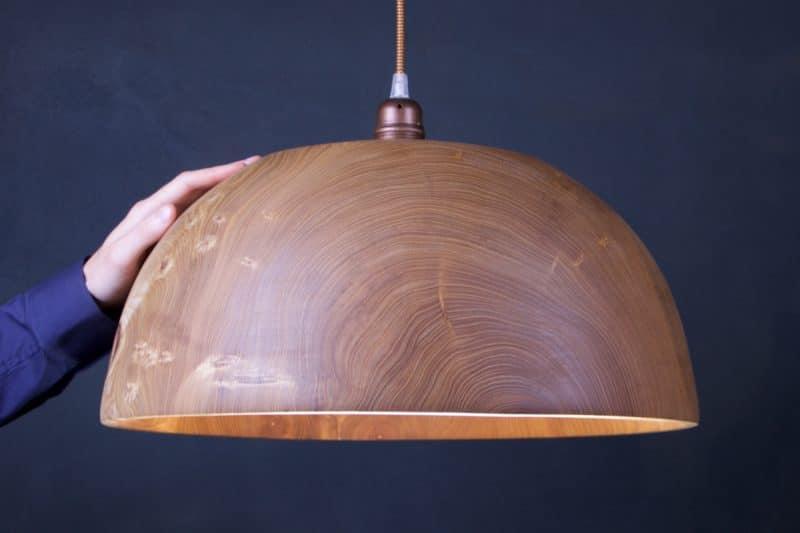 luminaire en bois naturel