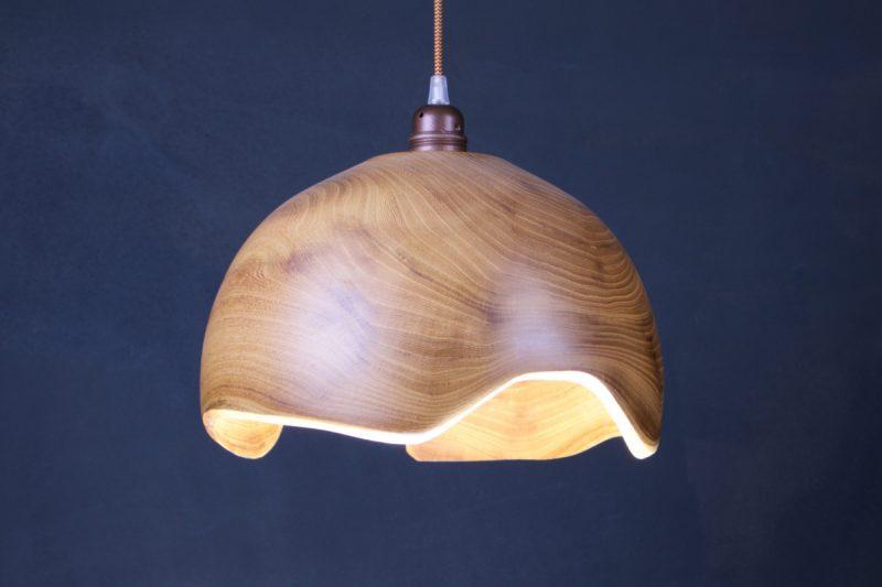suspension luminaire en bois