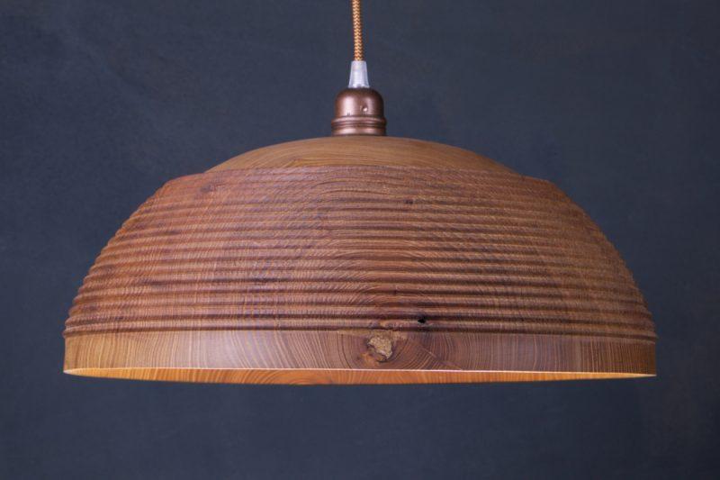 luminaire suspendu bois