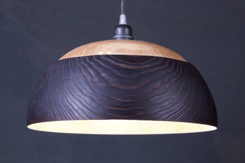 suspension bois brûlé