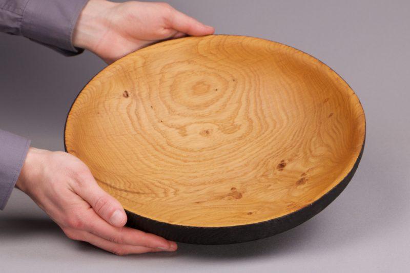 corbeille a fruit en bois brûlé