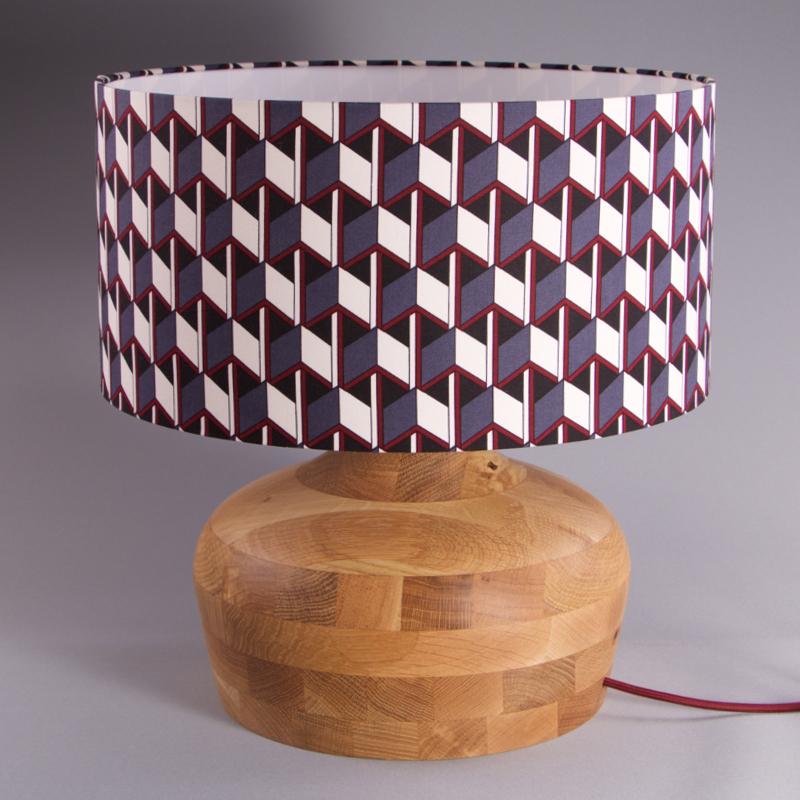 lampe en bois de chêne