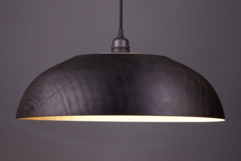 luminaire en bois brûlé shou sugi ban