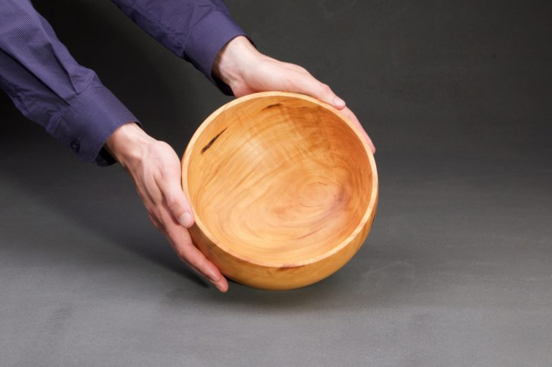 vide-poche en bois