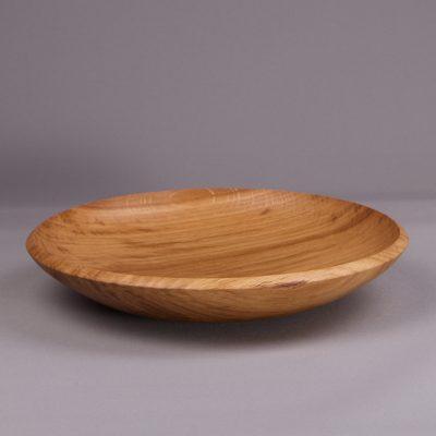assiette creuse en bois chêne massif