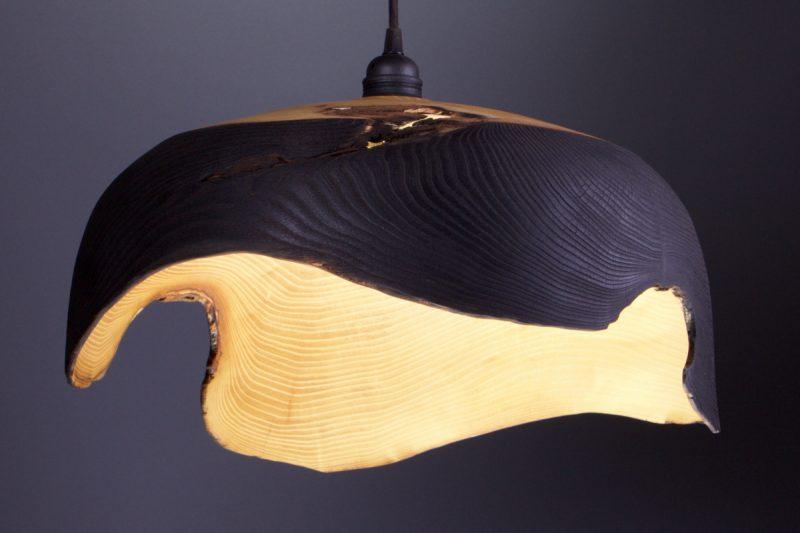 luminaire original design bois