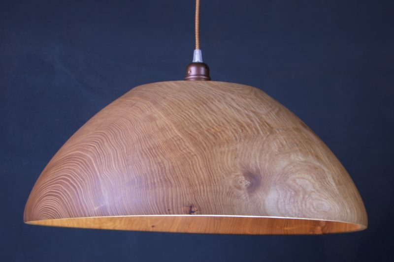 grande suspension luminaire en bois