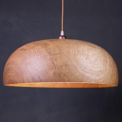 grande suspension en bois naturel