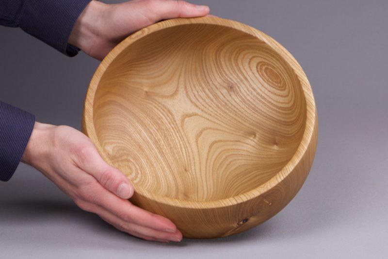 vide poche design bois