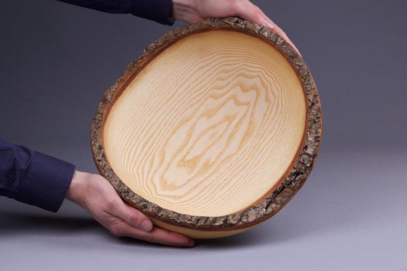 vide poche en bois naturel