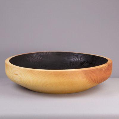 objet en bois massif brûlé shou sugi ban